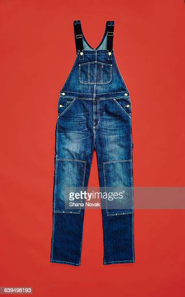denim overalls - dungarees stock pictures, royalty-free photos & images