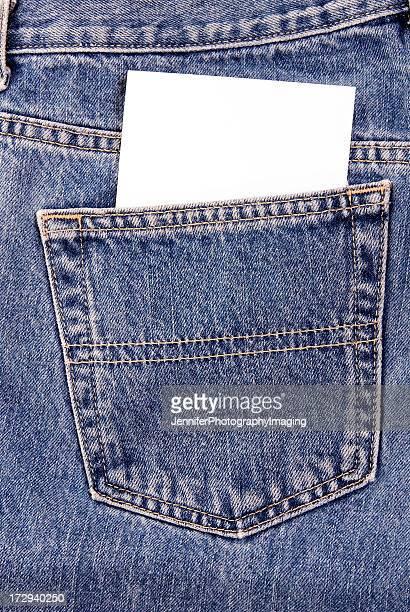 Denim Pocket with notecard