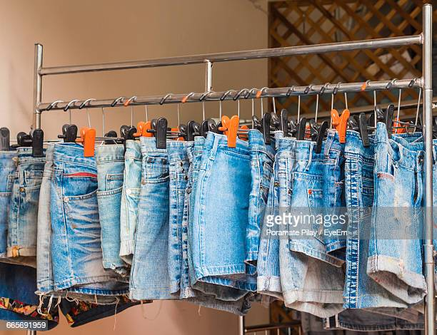 denim shorts for sale - denim shorts stock pictures, royalty-free photos & images