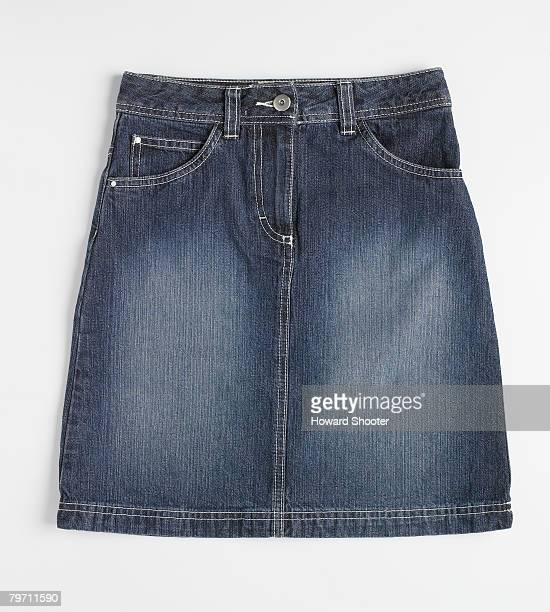 Denim skirt, studio shot