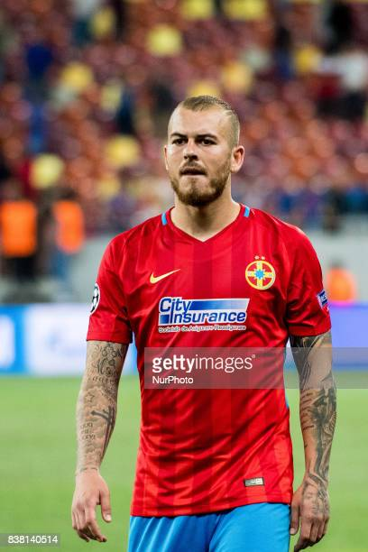 Denis Alibec of FCSB Bucharest during the UEFA Champions League 20172018 PlayOffs 2nd Leg game between FCSB Bucharest and Sporting Clube de Portugal...