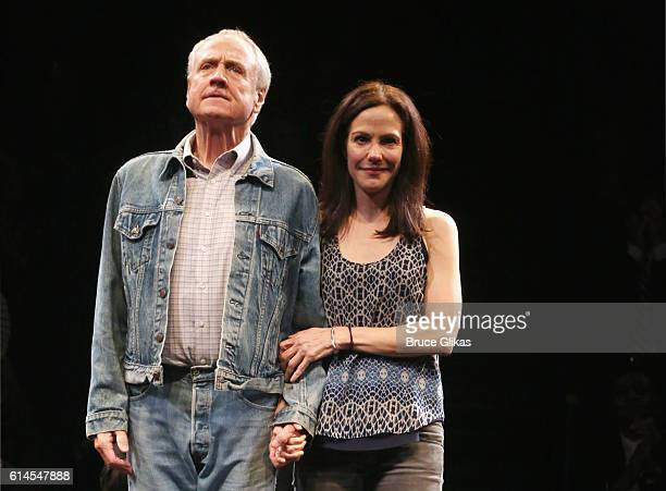Denis Arndt and MaryLouise Parker take their Opening Night Curtain Call for Heisenberg on Broadway at The Samuel J Friedman Theatre on October 13...
