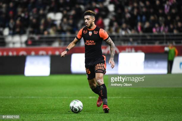 denis bouanga of lorient during the ligue 2 match between reims and lorient on january 29