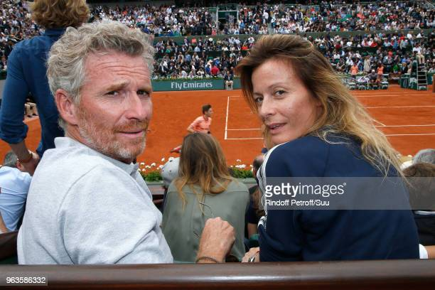 Denis Brogniart and his wife Hortense Brogniart attend the 2018 French Open Day Three at Roland Garros on May 29 2018 in Paris France