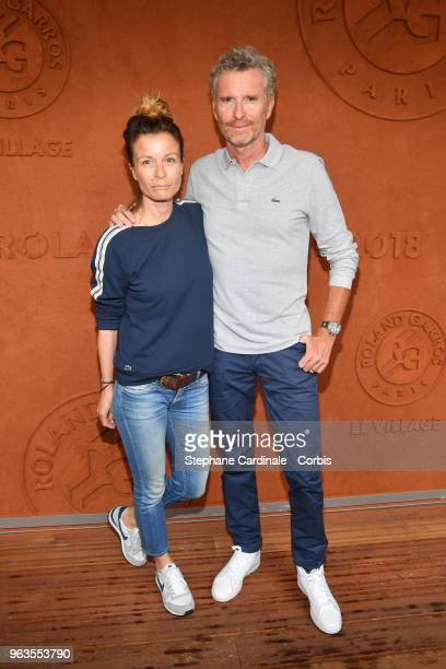Denis Brogniart and Hortense Brogniart attend the 2018 French Open Day three at Roland Garros on May 29 2018 in Paris France