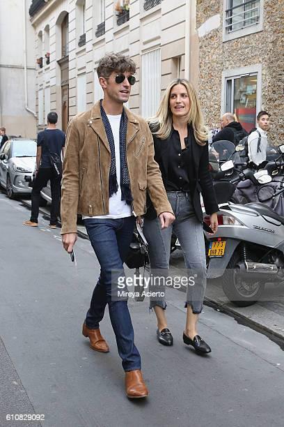 Denis Buffarat wearing Ami and Sonia Ben Maaouia wearing Another Stories during Paris Fashion Week Spring/Summer 2017 on September 27 2016 in Paris...