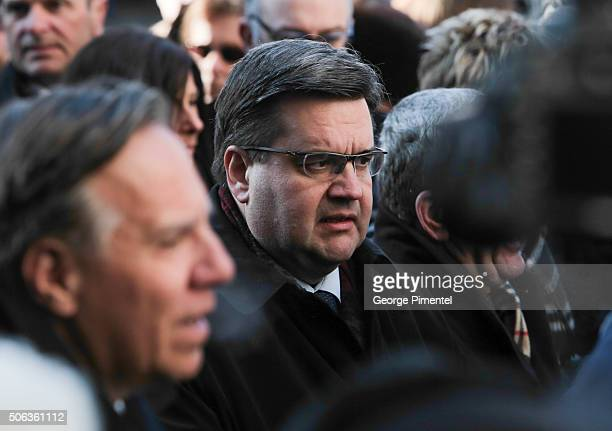 Denis Coderre attends the State Funeral Service for Celine Dion's husband Rene Angelil at NotreDame Basilica on January 22 2016 in Montreal Canada
