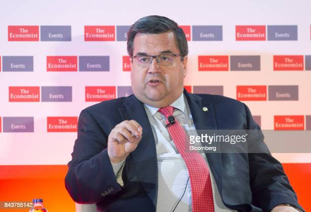 Denis Coderre mayor of Montreal speaks during the Canada Summit in Montreal Quebec Canada on Thursday Sept 7 2017 The Canada Summit will gather...