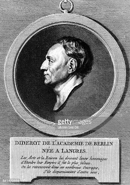 Denis Diderot Copper engravings Denis Diderot *0510171331071784 Writer philosopher France copper engraving by Benoit after a drawing by Creuze 18th...
