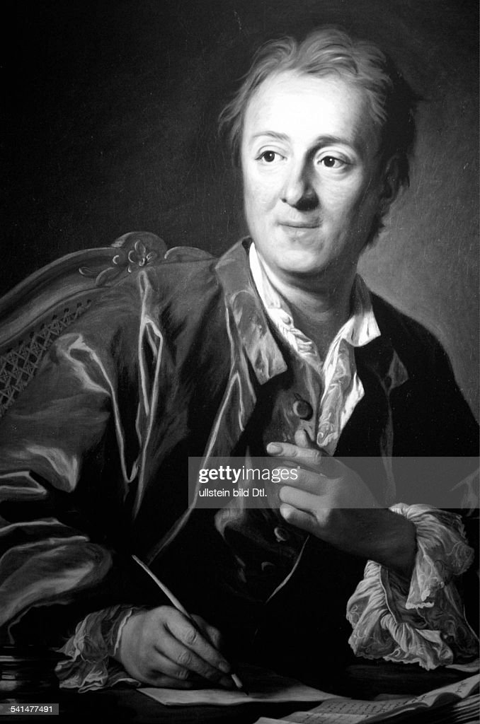 Denis Diderot Denis Diderot *05.10.1713-31.07.1784+ Writer, philosopher, France - portrait by van Loo - around 1767 : News Photo