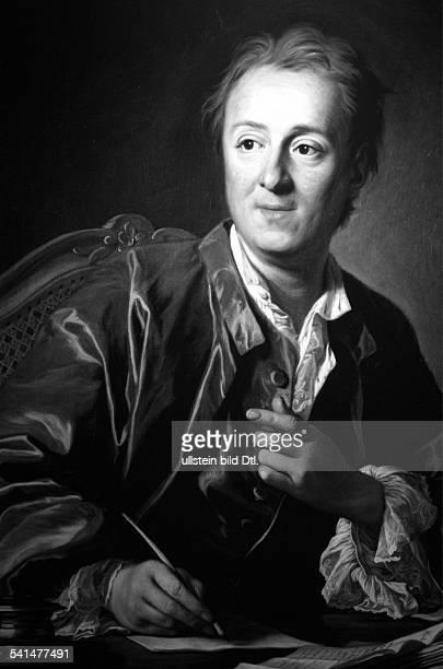 Denis Diderot Denis Diderot *0510171331071784 Writer philosopher France portrait by van Loo around 1767
