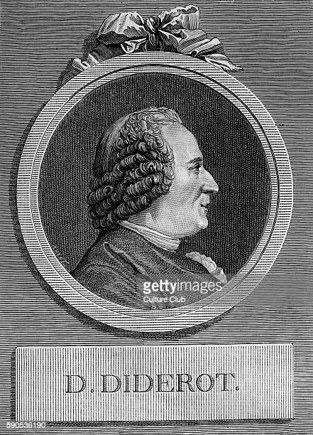 Denis Diderot French Enlightenment writer and philosopher and general editor of the famous Encyclopedia Profile portrait 17131784 After the drawing...