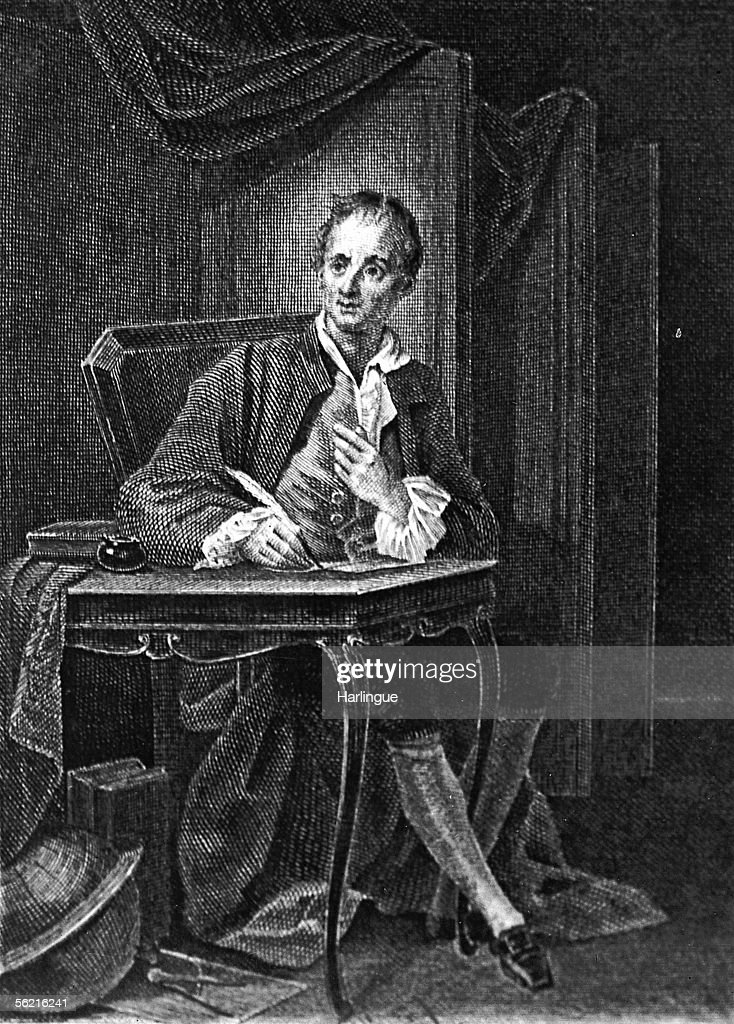 Denis Diderot (1713-1784), French writer. Engravin : News Photo