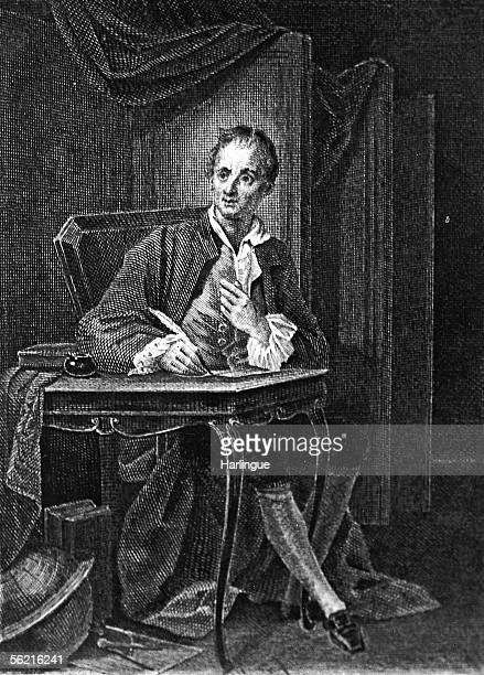 Denis Diderot French writer Engraving of Deveria