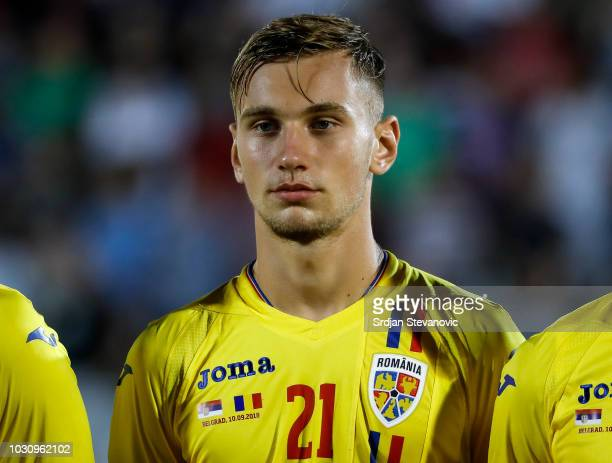 Denis Dragus of Romania looks on prior to the the UEFA Nations League C group four match between Serbia and Romania at stadium Partizan on September...