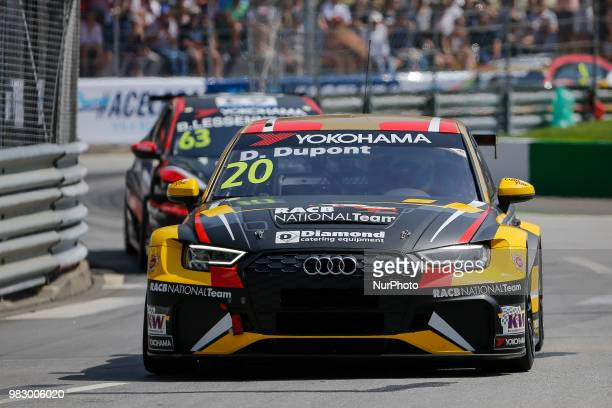 Denis Dupont from Belgium in Audi RS 3 LMS of Audi Sport Team Comtoyou during the Race 2 of FIA WTCR 2018 World Touring Car Cup Race of Portugal Vila...