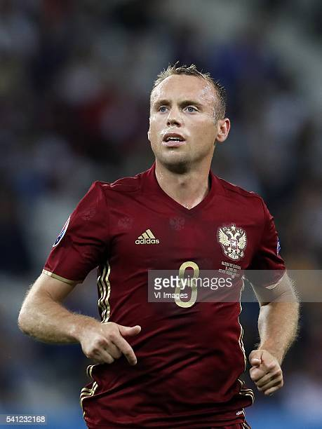 Denis Glushakov of Russia during the UEFA EURO 2016 Group A group stage match between Switzerland and France at the Stade PierreMauroy on june 19...
