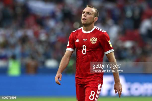 Denis Glushakov of Russia looks dejected during the FIFA Confederations Cup Russia 2017 Group A match between Mexico and Russia at Kazan Arena on...