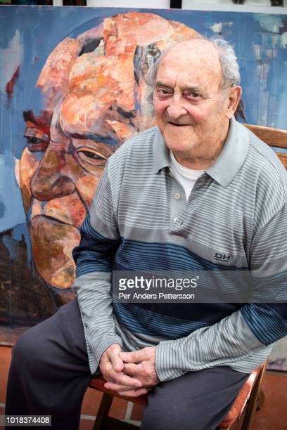 Denis Goldberg poses for portraits in his home on May 15 2018 in Hout Bay outside Cape South Africa Mr Goldberg is a South African social campaigner...