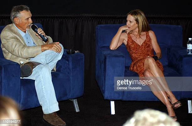 Denis Hopper and Holly Hunter during CineVegas 2004 Holly Hunter QA at The Palms Hotel and Casino Resort in Las Vegas Nevada