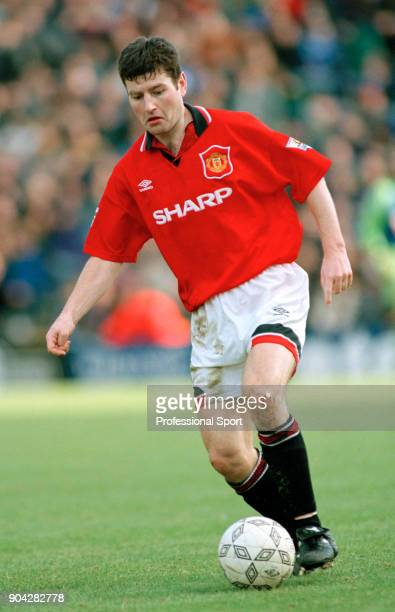 Denis Irwin of Manchester United in action circa 1994