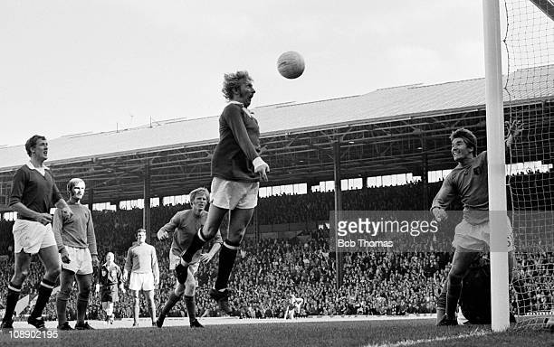 Denis Law scores for Manchester United against Ipswich Town during their Division One match held at Old Trafford Manchester on 4th September 1971...