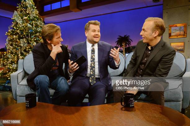 Denis Leary and Bob Odenkirk chat with James Corden during 'The Late Late Show with James Corden' Monday December 4 2017 On The CBS Television Network