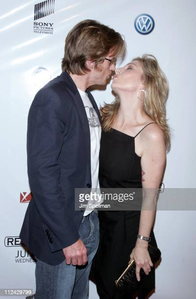Denis Leary and Tatum O'Neal during Rescue Me New York City Premiere Arrivals at AMC Theater on 42nd Street in New York City New York United States