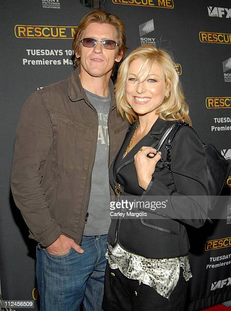 Denis Leary and Tatum O'Neal during Rescue Me Season Three New York Premiere at Ziegfeld Theater in New York City New York United States