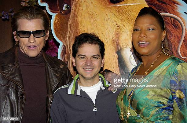 Denis Leary Carlos Saldanha and Queen Latifah attend a special screening of Ice AgeThe Meltdown at the Ziegfeld Theater in Manhattan