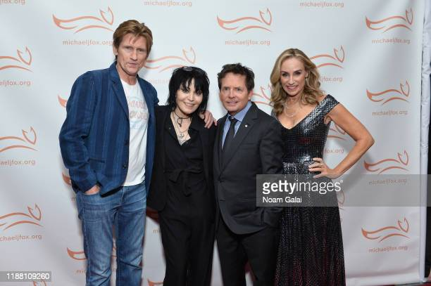 Denis Leary Joan Jett Tracy Pollan and Michael J Fox attend A Funny Thing Happened On The Way To Cure Parkinson's benefitting The Michael J Fox...
