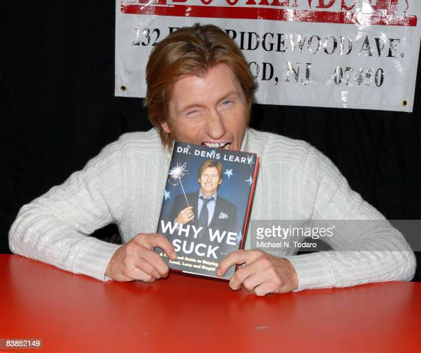 """Denis Leary promotes his new book """"Why We Suck"""" at Bookends on November 28, 2008 in Ridgewood, New Jersey."""