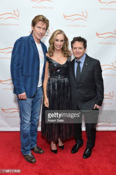 Denis Leary Tracy Pollan and Michael J Fox attend A Funny Thing Happened On The Way To Cure Parkinson's benefitting The Michael J Fox Foundation on...