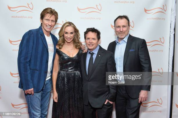 Denis Leary Tracy Pollan Michael J Fox and Colin Quinn attend A Funny Thing Happened On The Way To Cure Parkinson's benefitting The Michael J Fox...