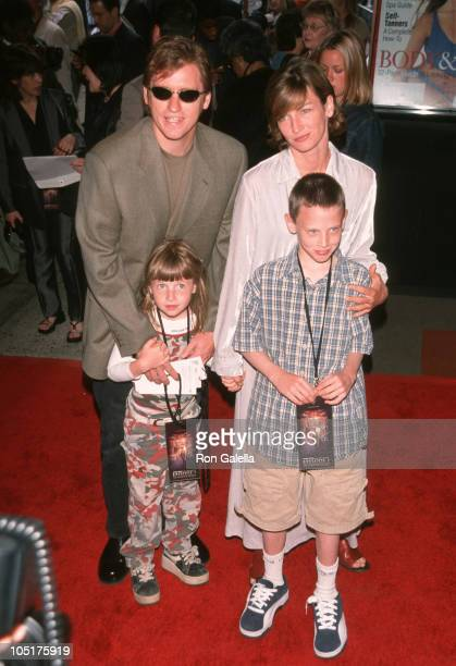 Denis Leary with wife Ann Lembeck Leary children Devin and Jack