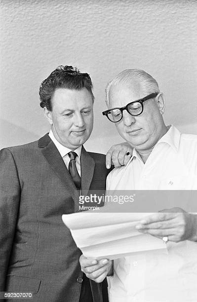 Denis Loraine and Abe Phillips his bail bondsman in Los Angeles USA 10th August 1965