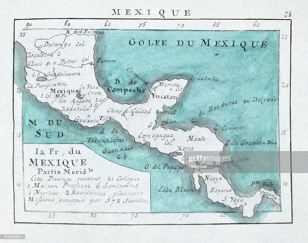 Denis\' Map of Southern Mexico and Central America News Photo ...