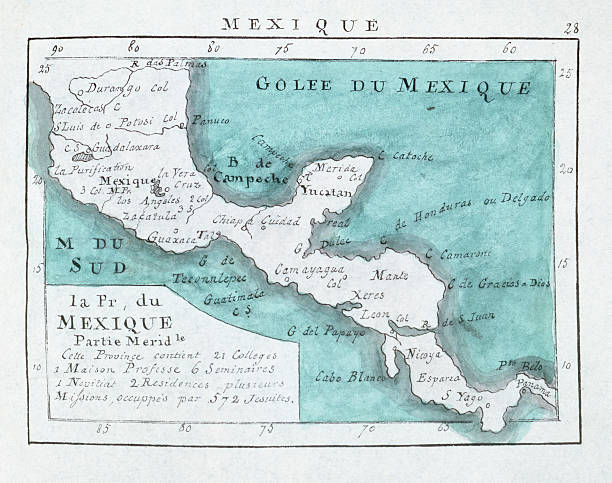 denis map of southern mexico and central america