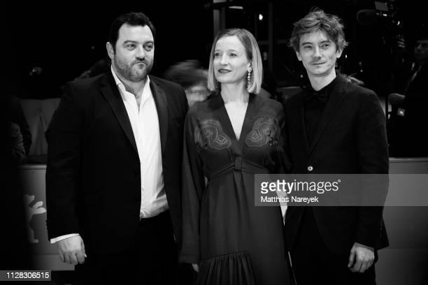 Denis Menochet Aurelia Petit and Swann Arlaud attend the Grace A Dieu premiere during the 69th Berlinale International Film Festival Berlin at...