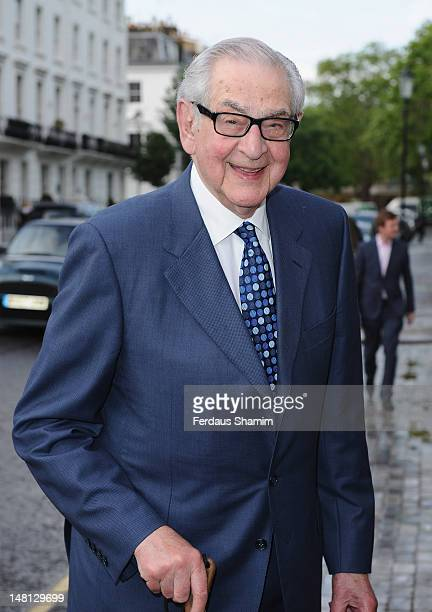 Denis Norden attends a summer party hosted by Sir David Frost at Royal Hospital Chelsea on July 10, 2012 in London, England.