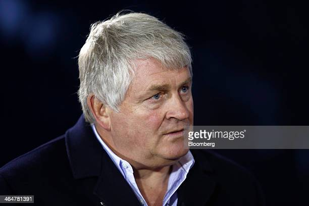 Denis O'Brien billionaire and chairman of Digicel Group Ltd pauses during a Bloomberg Television interview on day two of the World Economic Forum in...