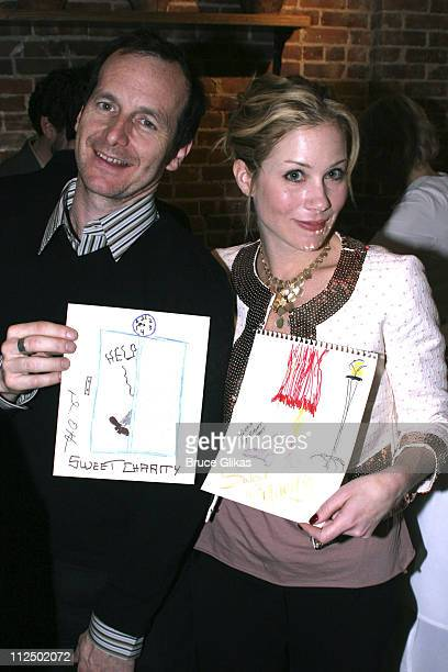 Denis O'Hare and Christina Applegate during 50th Annual Drama Desk Awards Nominations Cocktail Party at Arte Cafe in New York City New York United...
