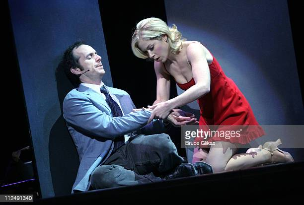 Denis O'Hare and Christina Applegate during Broadwaycom's Broadway Festival First Look at Christina Applegate in 'Sweet Charity' at Town Hall in New...