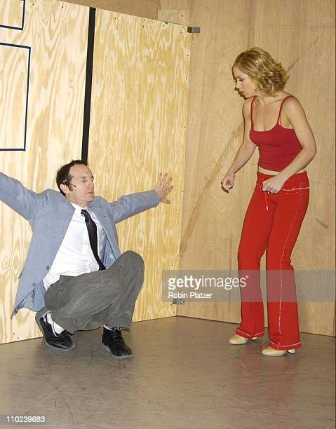 Denis O'Hare and Christina Applegate during Christina Applegate Rehearses for her Broadway Debut in 'Sweet Charity' January 19 2005 at The New 42nd...
