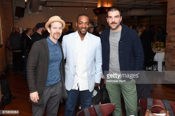 Denis O'Hare Anthony Mackie and Zachary Quinto attend the jury welcome lunch at Tribeca Grill Loft on April 20 2017 in New York City