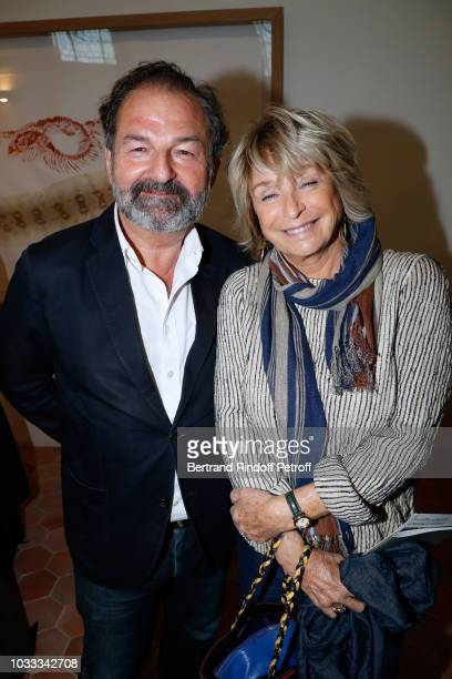 Denis Olivennes and Daniele Thompson attend the Kering Heritage Days Opening Night at 40 Rue de Sevres on September 14 2018 in Paris France