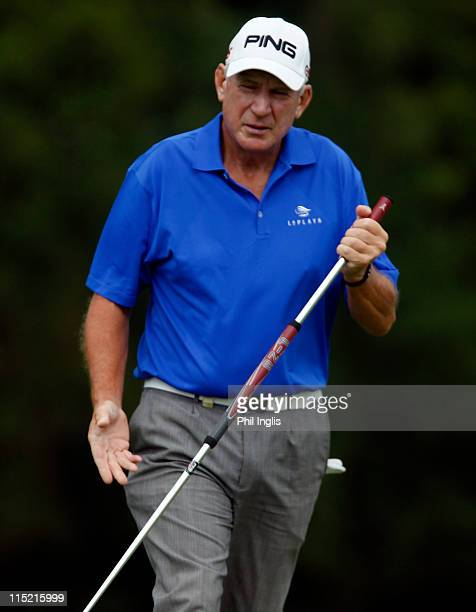Denis O'Sullivan of Ireland in action during the second round of the Handa Senior Masters presented by the Stapleford Forum played at Stapleford Park...