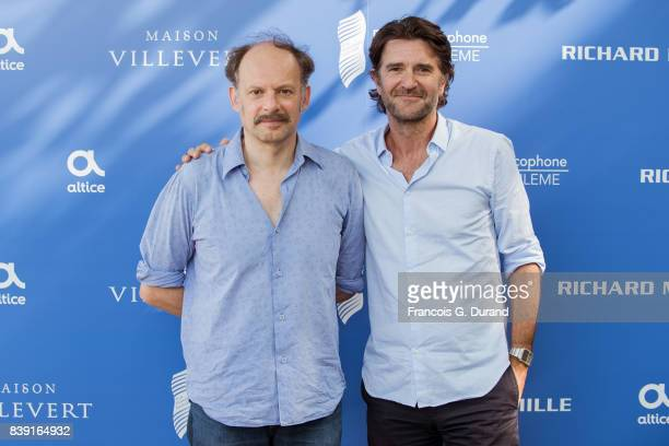 Denis Podalydes and Olivier AyacheVidal attend the 10th Angouleme FrenchSpeaking Film Festival on August 25 2017 in Angouleme France