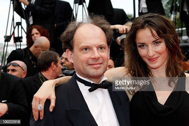 Denis Podalydes and Salome Stevenin attend the premiere of 'Outside Of The Law' at the Palais des Festivals during the 63rd Annual Cannes Film...