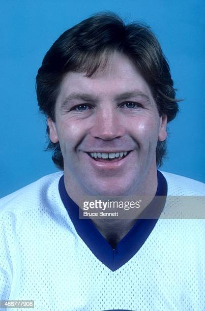 Denis Potvin of the New York Islanders poses for a portrait in October 1981 at the Nassau Coliseum in Uniondale New York